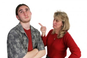 Mother Scolding Son