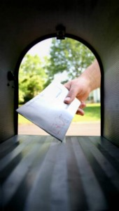letter in the mailbox