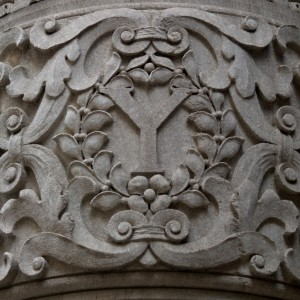 University Club Entryway Pilaster Letter Y (New York, NY)